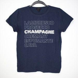 J. Crew Champagne Sequin T Shirt